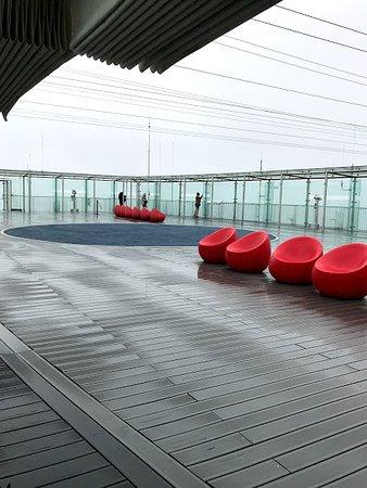 Top, open air deck
