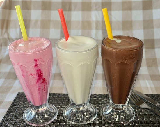 The Butcher's Coffeehaus: Delicious milkshakes