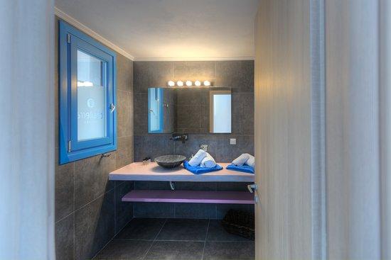 "Desiterra Luxury Suites & Villas: One bedroom Suite  ""en suite"" terrace and pool. Fully Autonomous and bio climatic villas, Minimal design with traditional twists."