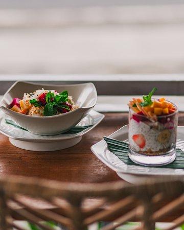 Chia Pudding and Fruit Salad