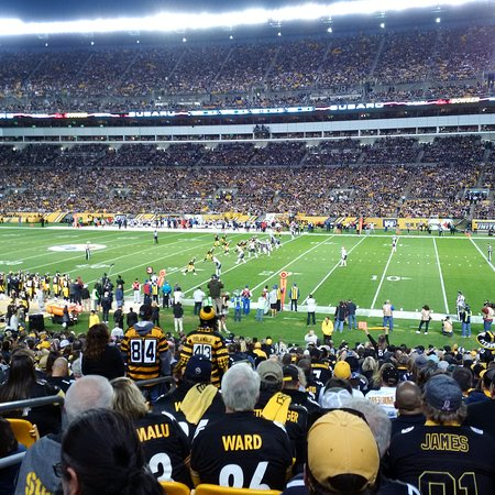 Watching the Pittsburgh Steelers play the New England Patriots