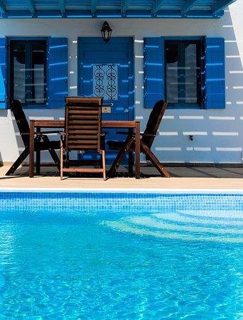 "Desiterra Luxury Suites & Villas:  ""en suite"" terrace and pool"