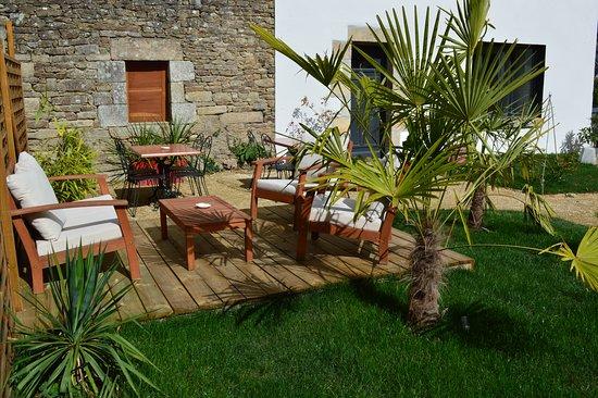 Brandivy, فرنسا: jardin des hôtes
