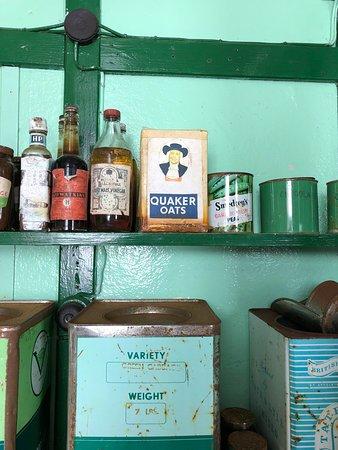 shelf in the kitchen