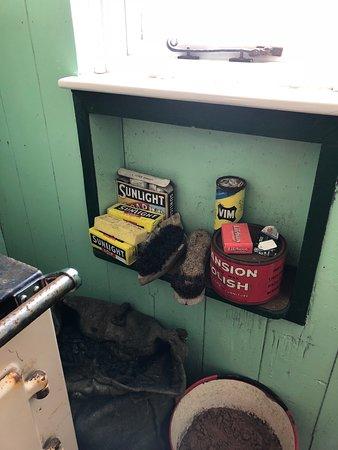 storage next to stove