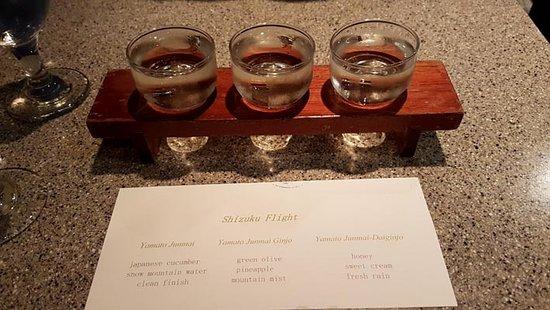 Hana Japanese Restaurant: Comparing Sake