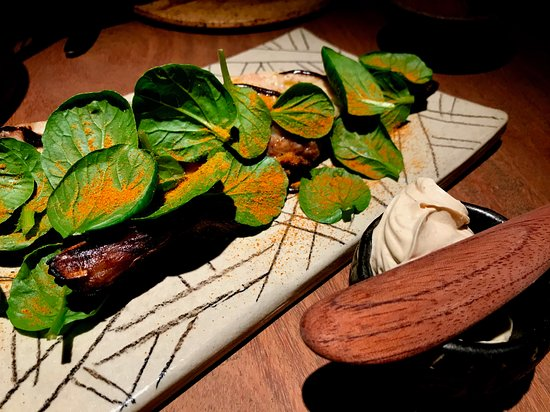 Merito: Grilled cabrilla with arepas