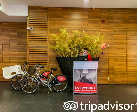 Lobby at the Expo Hotel Barcelona