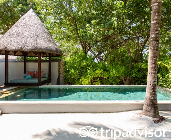 The Beach Bungalow with Pool at the Four Seasons Resort Maldives at Kuda Huraa