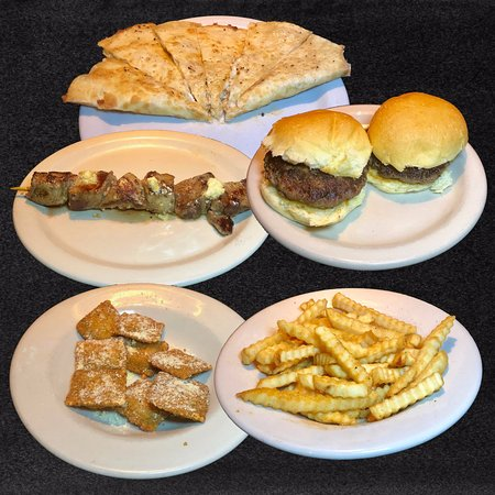 Thursday Happy Hour 4-7 PM  $3 food items. Chicken Quesadilla, Beef Kabob, Ground Beef Sliders, Buffalo Chicken Ravioli, French Fries.