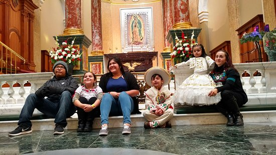 Shrine of Our Lady of Guadalupe: Pilgrims on the Solemnity of Our Lady of Guadalupe, December 12th.