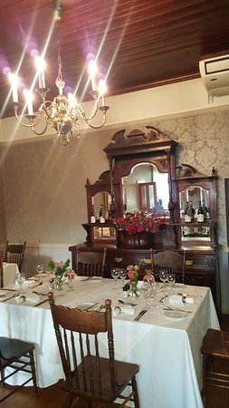 Typical furniture to reflect the old school charm of this restaurant