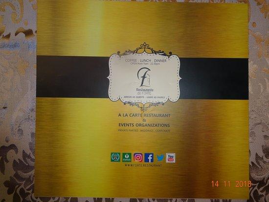 Restaurante Do Forte: Сей фолиант имеет только один минус-русское меню