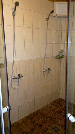 shower in sauna