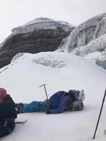 Taking a rest on Cotopaxi.