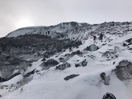 Cotopaxi ice field.