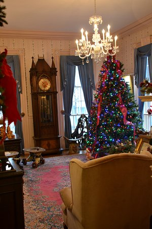 Haan Museum of Indiana Art, decorated for Christmas