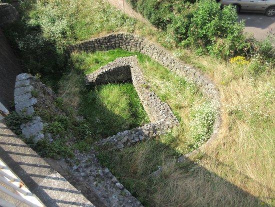 Ancient Roman remains of the original wall