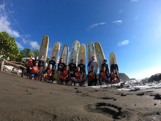 Tortuga Surf School: The classic Pura Vida shot!