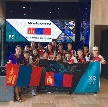 ยินดีต้อนรับทีมชาติมองโกเลีย ชุดU-15 หญิง สู่จังหวัดบุรีรัมย์  เปลี่ยนวันพักผ่อนธรรมดา ให้เป็นวันพักผ่อนสุดพิเศษกลางใจเมืองบุรีรัมย์ พร้อมสระว่ายน้ำระบบเกลือ, ห้องสัมนา, ห้องประชุมส่วนตัว ฟรี Wi-Fi ใกล้ห้างสรรพสินค้าชั้นนำ ใช้เวลาเดินทางถึงสนามฟุตบอลช้างอารีนา และสนามแข่งรถช้างอินเตอร์เนชั่นแนลเซอร์กิต เพียง 10 นาที  สอบถามรายละเอียดเพิ่มเติม โรงแรม ครอสทู ไวบ์ บุรีรัมย์ 📞044-634-678,044-110-667  #Stay #Chill #Enjoy #Amazingthailand #Hotel #Buriram #Pool #Family #Thailand #BuriramUnited