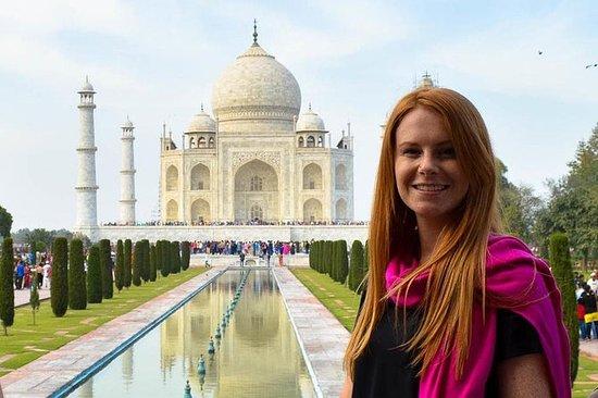 Samme dag Taj Mahal tur med tog