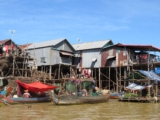 Tonle Sap Lake and Kampong Phluk Private Half Day tour from Siem Reap: Houses built on stilts