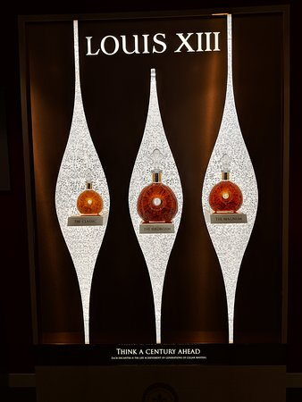 Remy Martin: A display featuring limited edition Louis XIII Cognac.