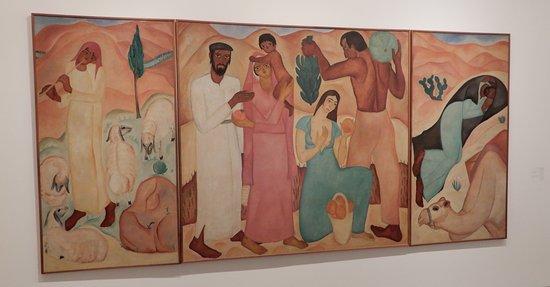Israel Museum: art moderne Israélien : triptyque de R.Rubin