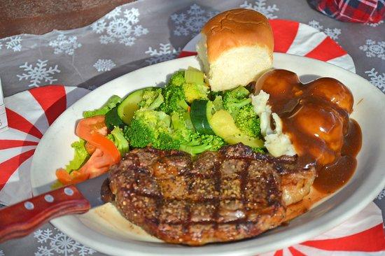 Hitchin' Post Saloon: Ribeye Steak Dinner