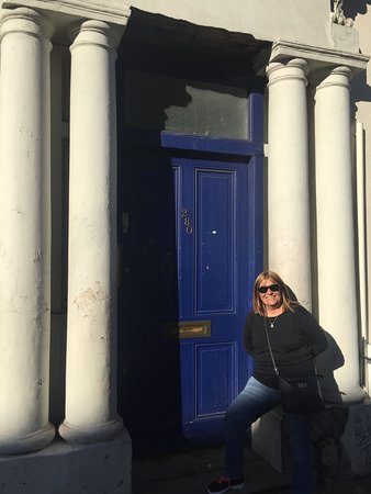 la famosa puerta azul jajaja