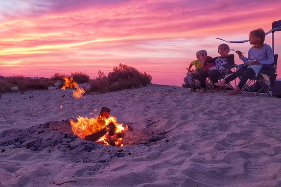 Ruwais, United Arab Emirates: Epic sunsets and glorious weather in December camping along the coast in the Abu Dhabi Western Region. Have you ever tried sand camping?