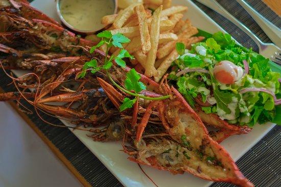Lilayi Lodge: Grilled Zambian Crayfish
