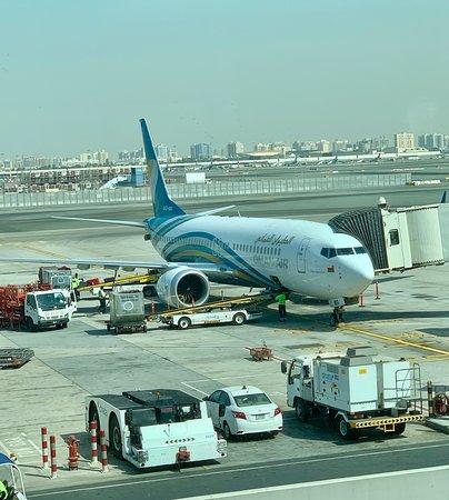Oman Air: Airplane at Dubai Airport