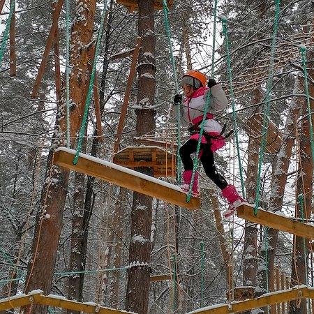 Парк в зимний период