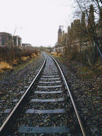 Rudersdorf, Alemanha: Schiene entlang der unteren Ebene