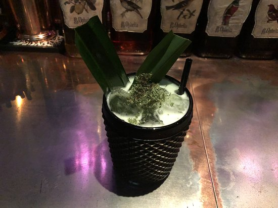 I asked the bartender for a Southeast Asian cocktail based around whisky. The smoky pandan leaves and faint hint of coconut foreshadowed our trip to rural Thailand perfectly.