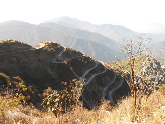 Zig-zag road view from Thambi view point