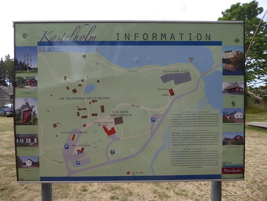 Aland Island, Finland: a map of Kastelholm