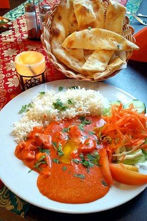 Mittagessen/Mittagsmenü für 7,90 Euro! Dazu noch eine Suppe als Vorspeise und ein indisches Dessert dazu. www.Jaipur-Cottbus.de
