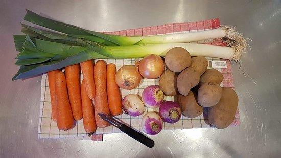 fresh veggies ! wonderful soup