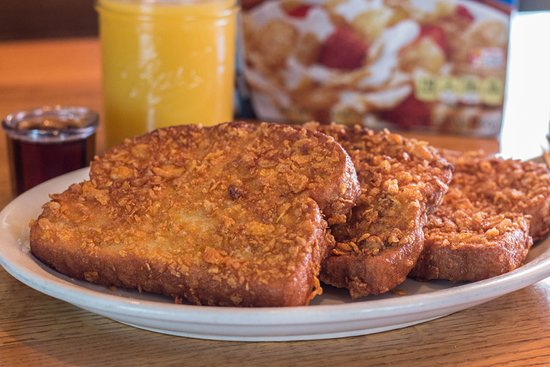 Cereal-Coated French Toast