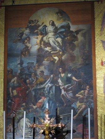 la tela del Solimena nell'abside