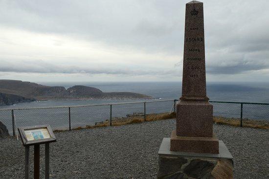 North Cape: Oskarsäule am Nordkap