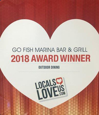 Go Fish Marina Bar & Grill: Award Winner