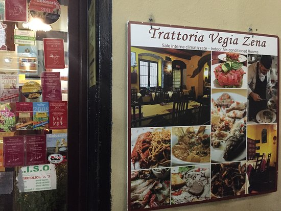 Trattoria Vegia Zena: sign beside the entrance