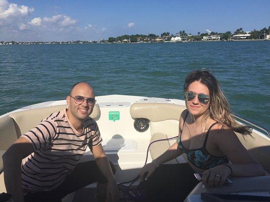 Miami Speedboat Tour: http://speedboattours.com/ Enjoying some time on the boat.