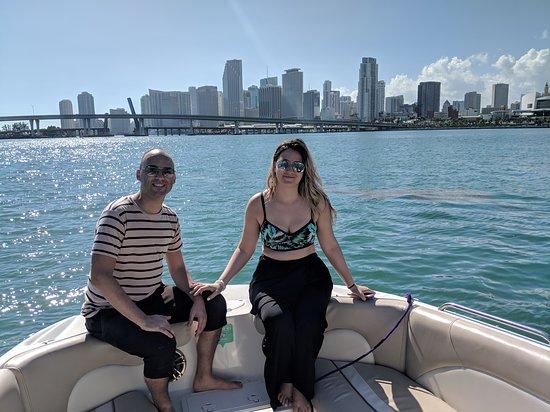 Miami Speedboat Tour: Great shot of the Miami skyline while on our tour.