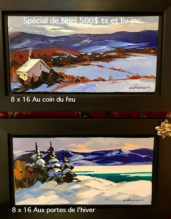 Several choices of small formats for Christmas gifts , all at 500$, taxes and shipping included!