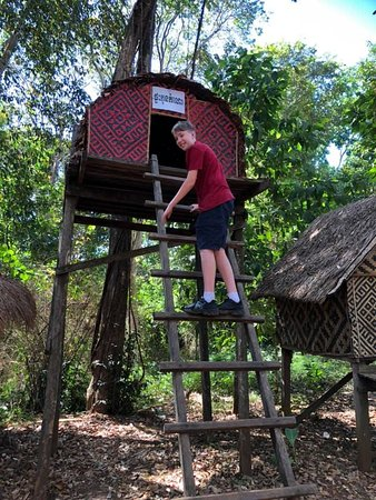 Kachang Waterfall: When the boys turned 14 the would move out of home and move into this. Our son tried it and Sid it was a long way up.