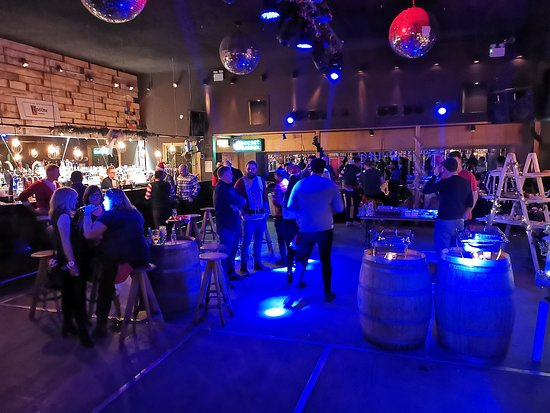 Full bar, seating, food and dance floor